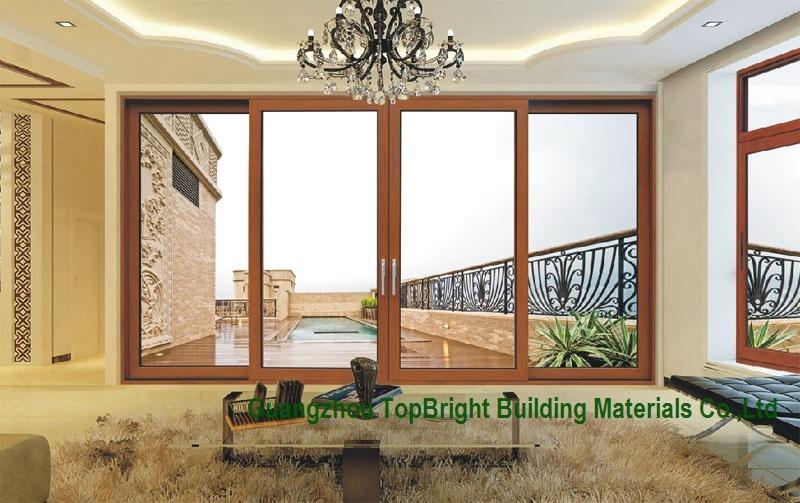 Modern Design Sound Proof Aluminum Double Glass Sliding Door