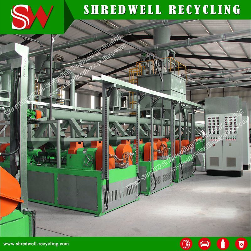 Rubber Powder Recycling System for Reusing Used Whole Tire