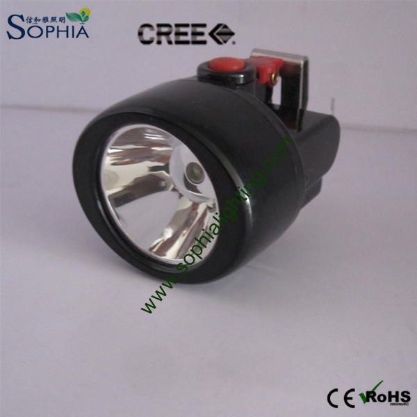 Explosion Proof 3W CREE LED Cordless Head Lamp 2.8ah Lithium