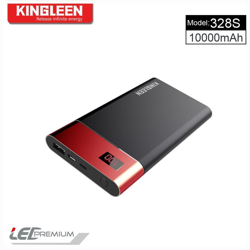 Kingleen 2017 New Design Power Bank Model 328s High Quality 10000mAh Single USB 1aoutput with Digital Display