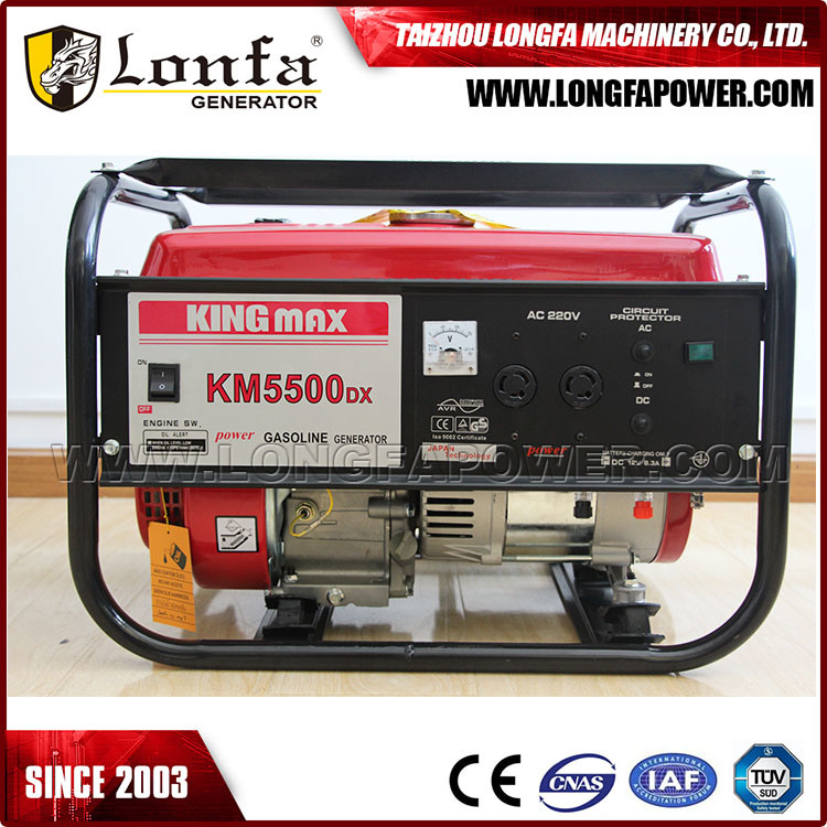 5kw/5kVA Kingmax Air-Cooled Power Gasoline/Petrol Generator Set