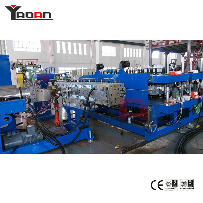 PC PP Flute Hollow Profile Sheet Board Extruder Production Line