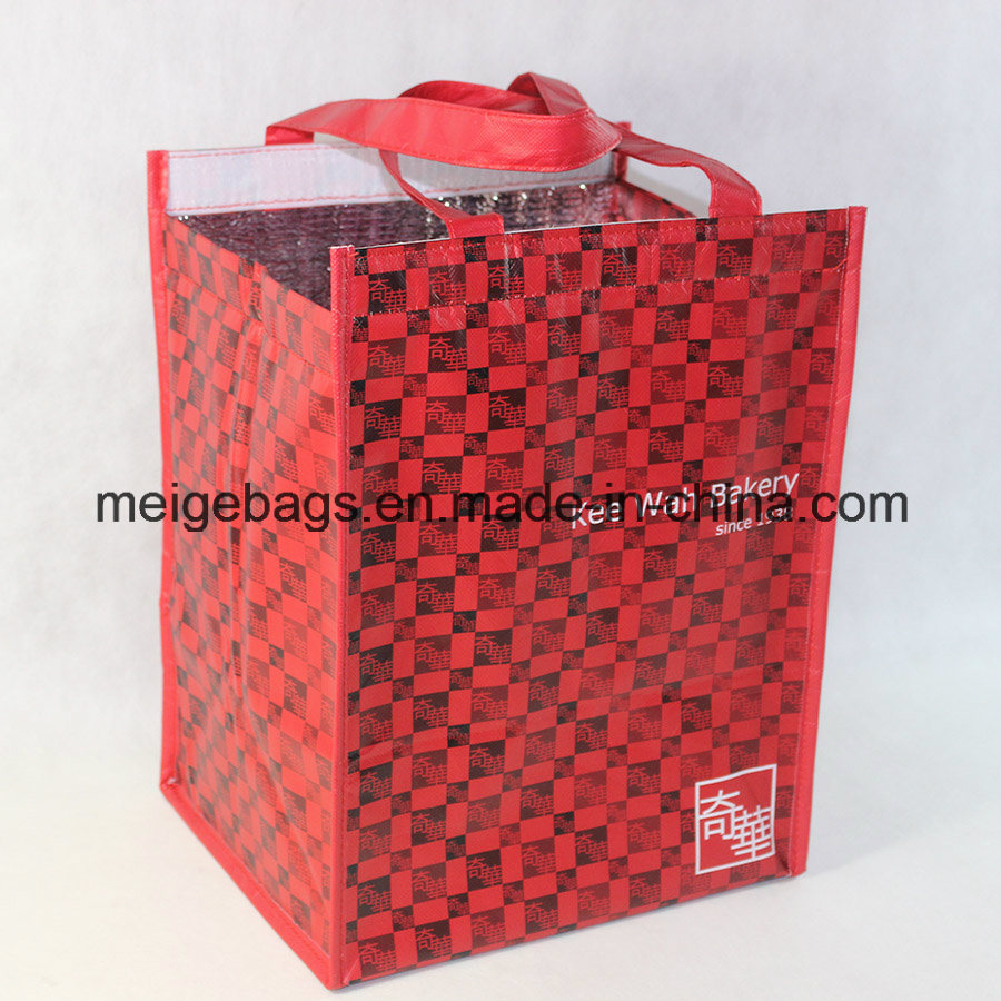 Non Woven Insulated Cooler Lunch Bag, with Magic Tape Closure