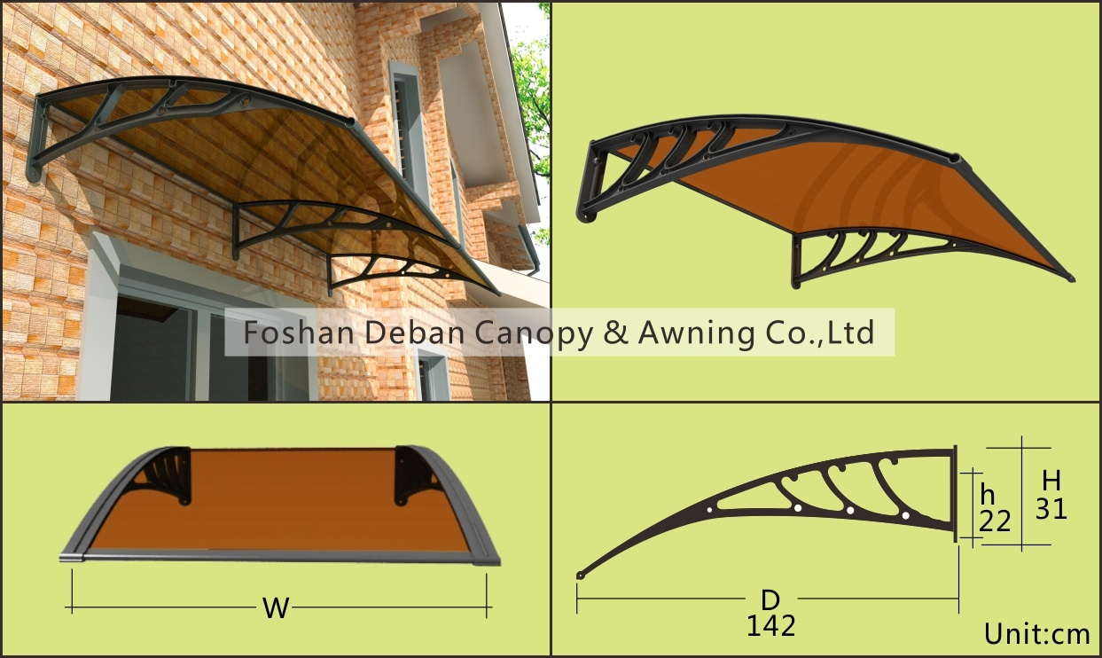 Largest/Polycarbonate/DIY Awning for Doors and Windows /Sunshade