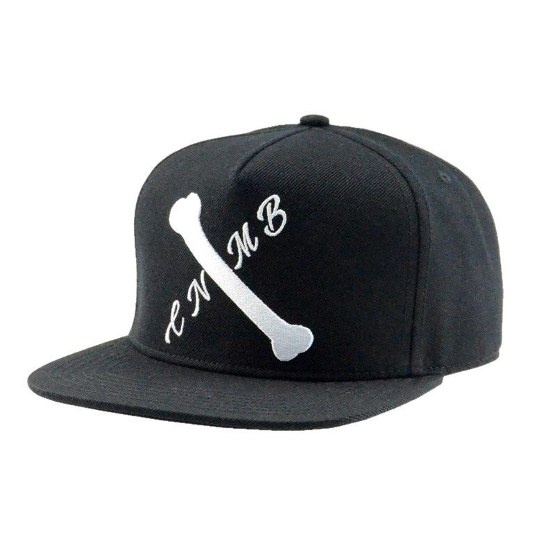 Custom Man Hat 5 Panels Acrylic Flat Brim Snapback Cap