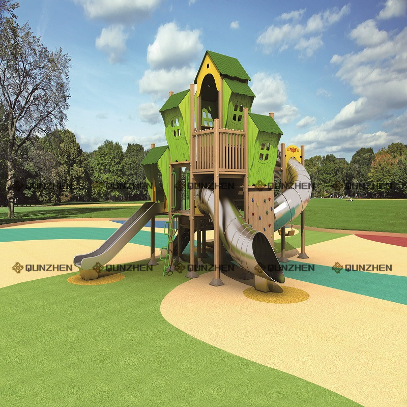 Special Design Wooden Plastic Children Indoor/Outdoor Playground