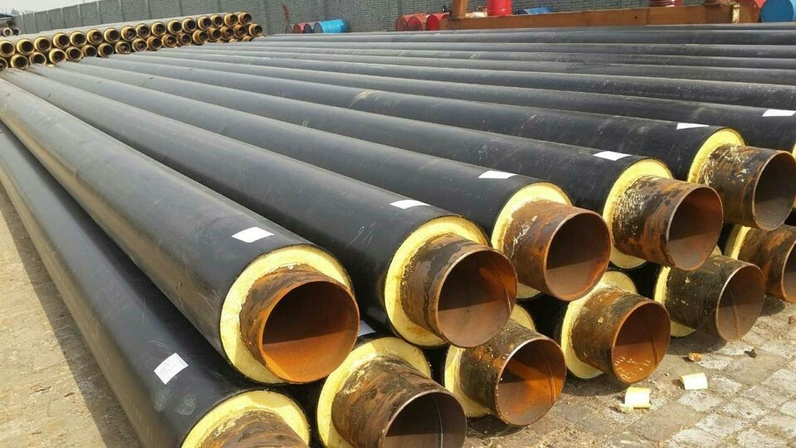 Heating and Cooling Resistant HDPE Coated Polyurethane Pipe Insulation