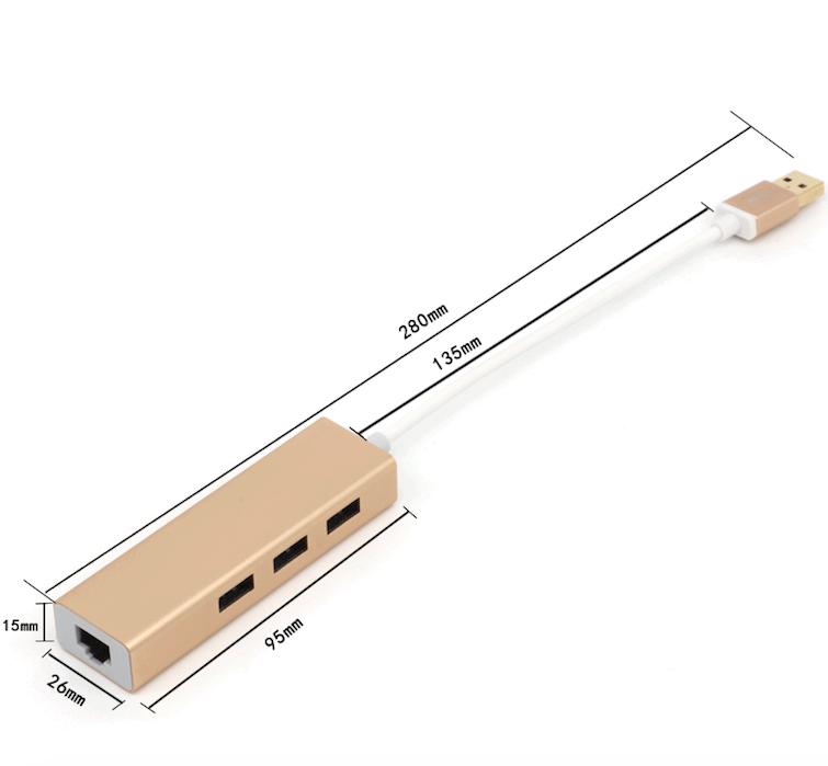USB 3.0 to RJ45 LAN Network Ethernet USB Hub