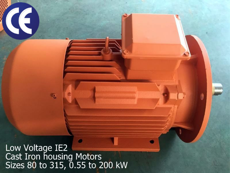 0.55~200kw-Cast Iron Frame-Ie2- Three Phase AC Motor