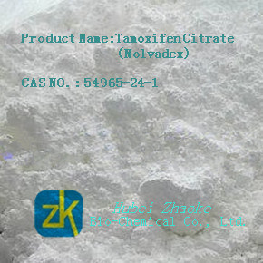 Tamoxifen Citrate Steroid Powder with High Purity 99%