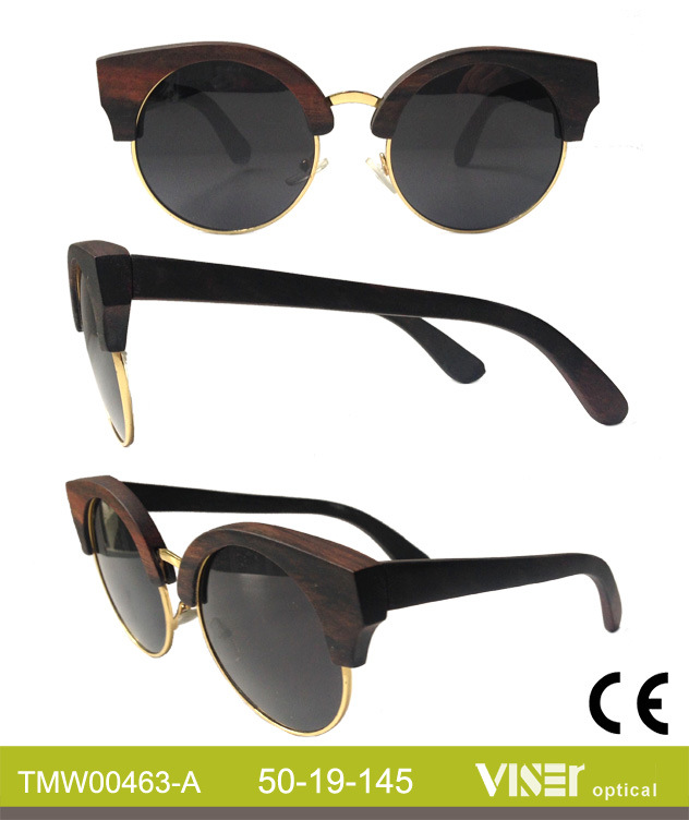 Fashion Wooden Sunglasees with High Quality (463-A)
