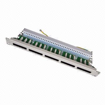Voice Patch Panel with 25 Ports for 19-Inch Network Cabinet