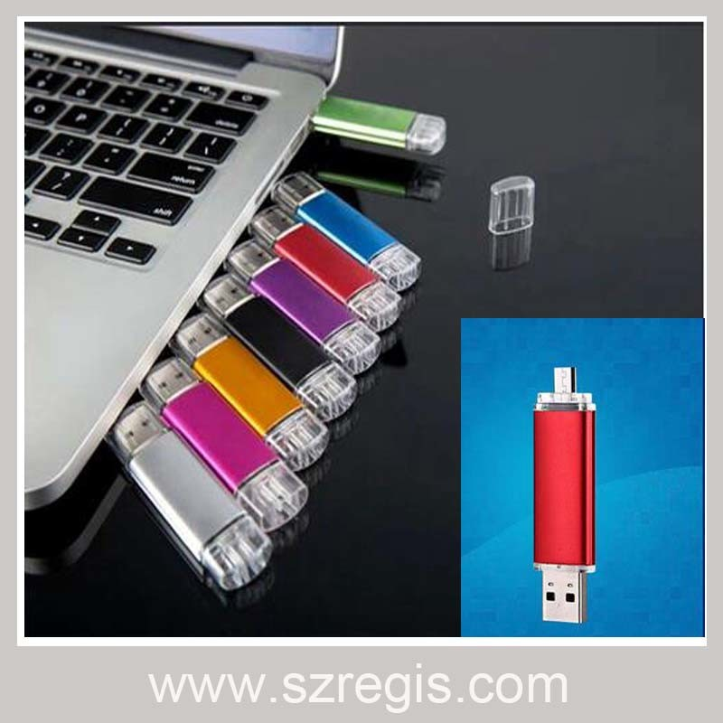 4GB/8GB/16GB/32GB OTG USB Flash Memory Drive Disk Sticker
