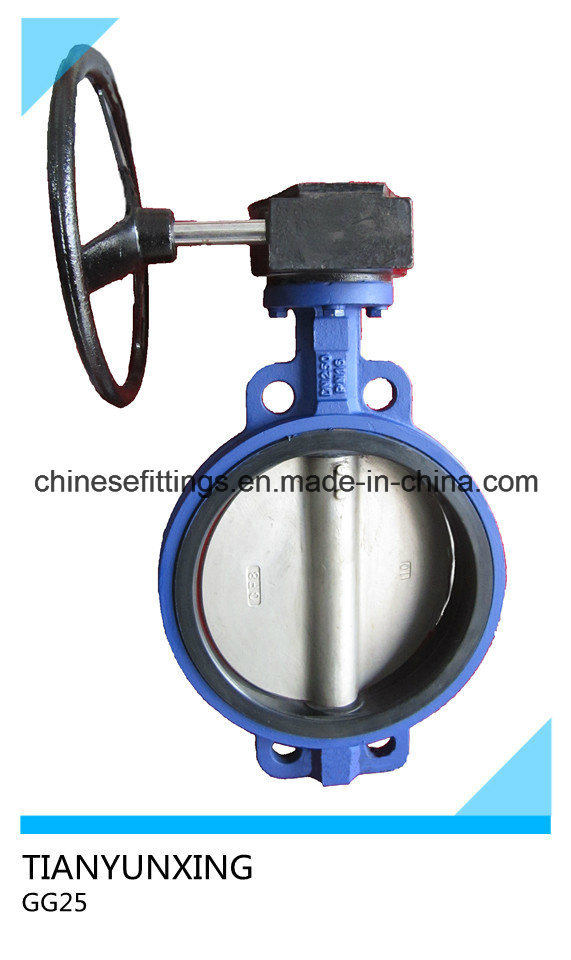 API DIN Manual Operation Wafer Ductile Iron Butterfly Valve