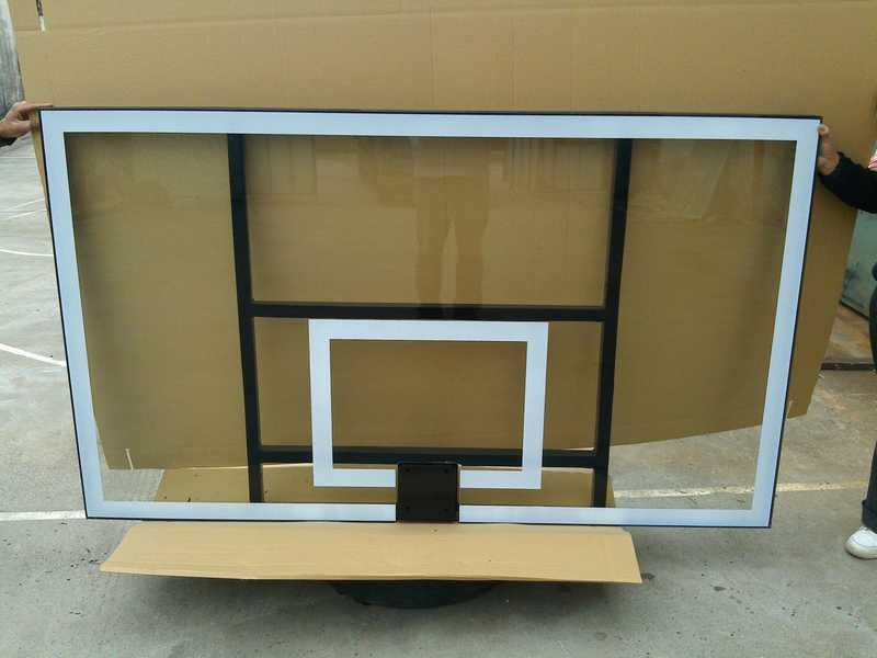 All Aluminum Frame Tempered Glass Basketball Backboard (GM-L-12)