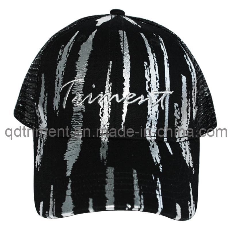 Contrast Stitching Print Applique Embroidery Snapback Trucker Cap (TMT8938)