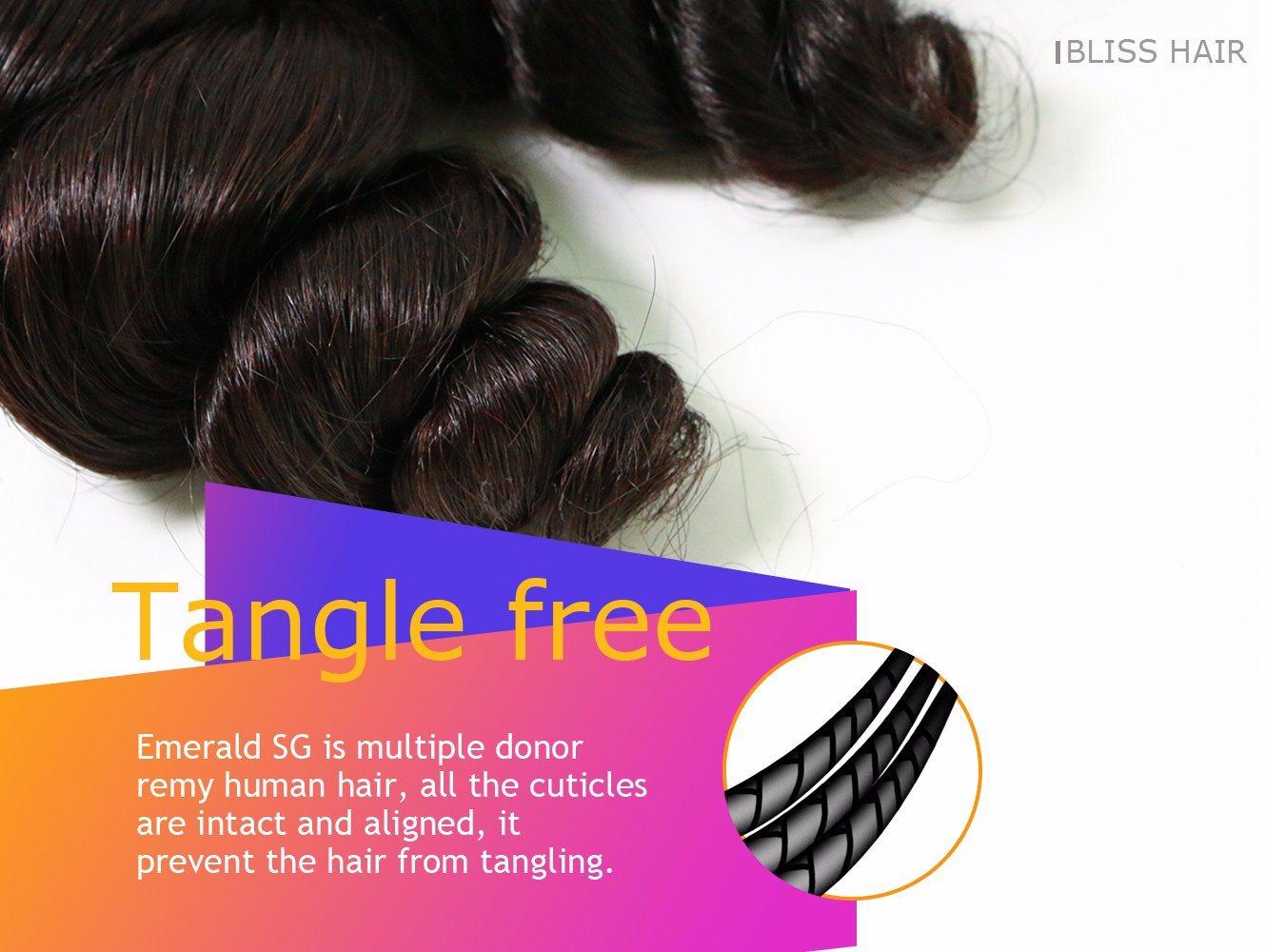 Brazilian Virgin Hair Spring Wave Human Hair Weave Bliss Hair