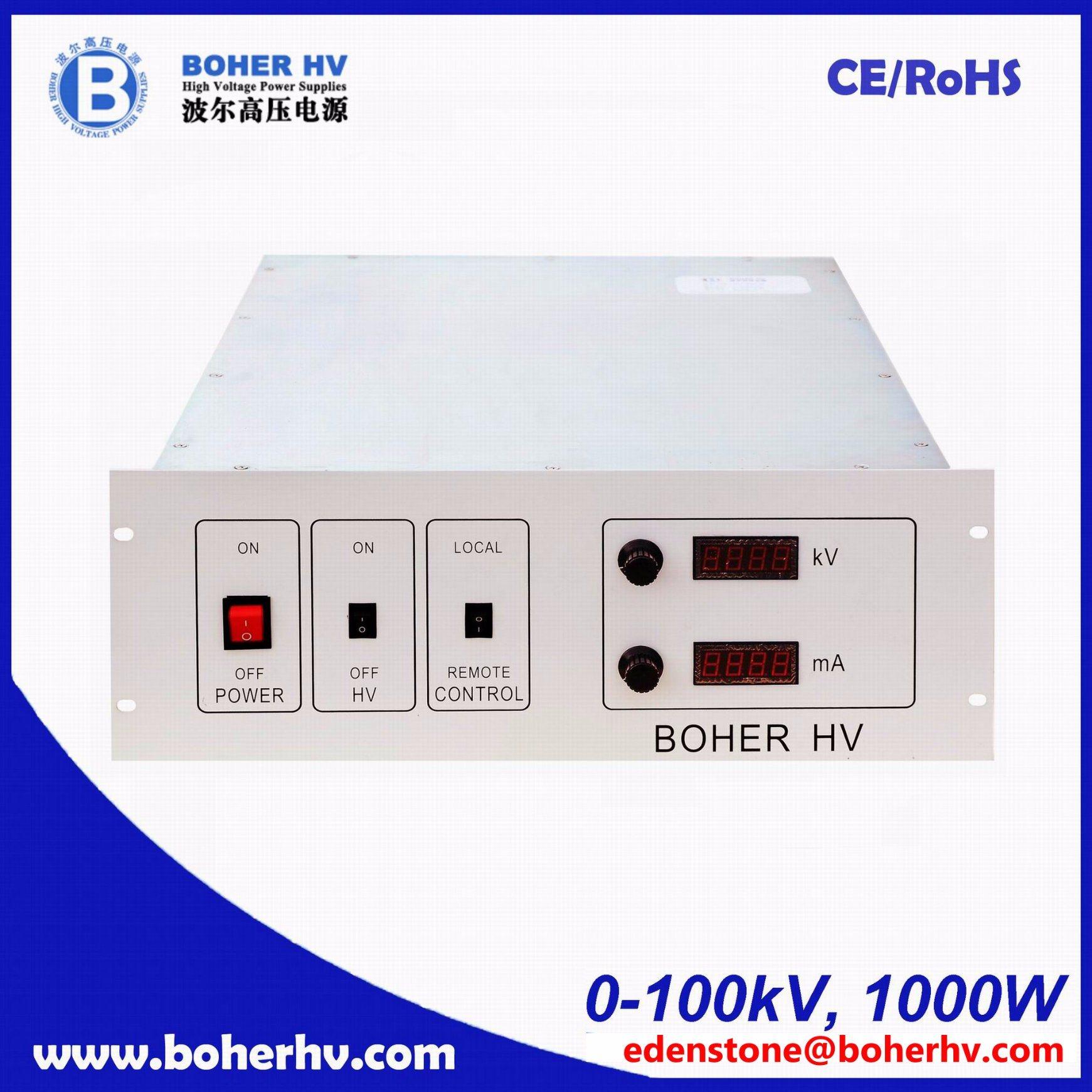 High Voltage Rack power supply 100kV 1000W LAS-230VAC-P1000-100K-4U