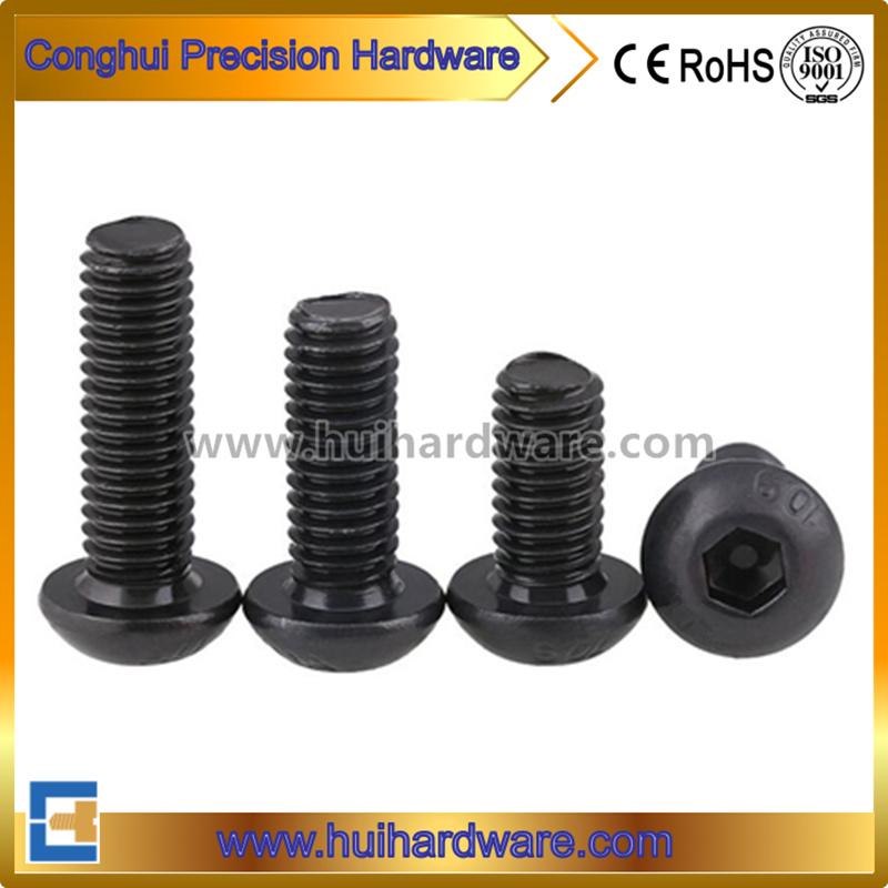 Carbon Steel Grade 10.9 Button Head Hex Socket Black Screw