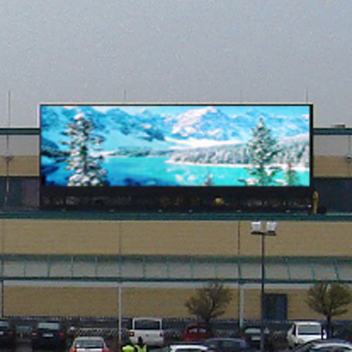 China outdoor led full color display screen china led for Exterior led screen