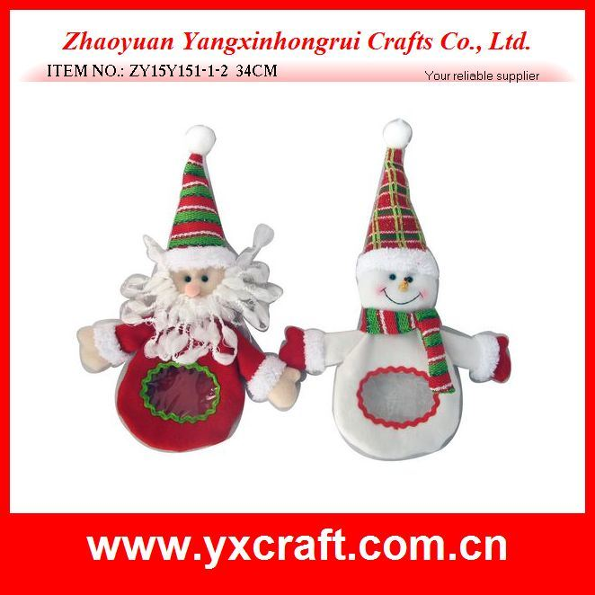 Christmas Decoration (ZY15Y151-1-2) Christmas Plastic Bag