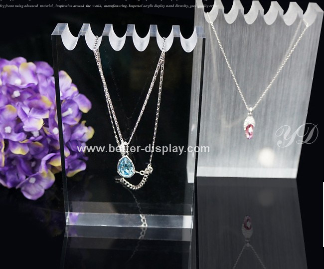 Clear Acrylic Block Display for Jewelry