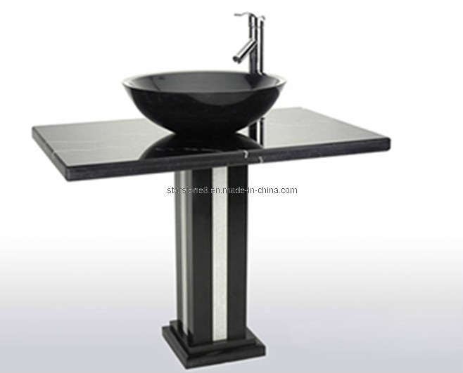 Black Pedestal Sink : China Black Marble Pedestal Sink - China Stone Sink, Marble Sink