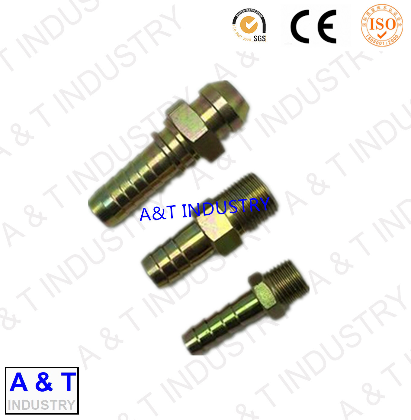 Male Carbon Steel Elbow 90 Degree Pipe Fitting Hydraulic Hose Fitting