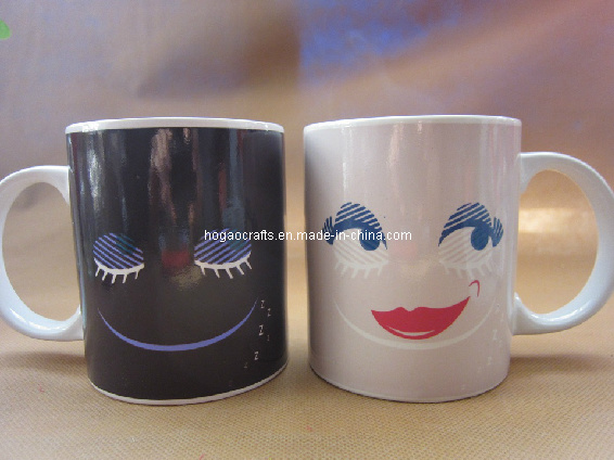 Smile Face Ceramic Magic Color Changing Mug (HG020)