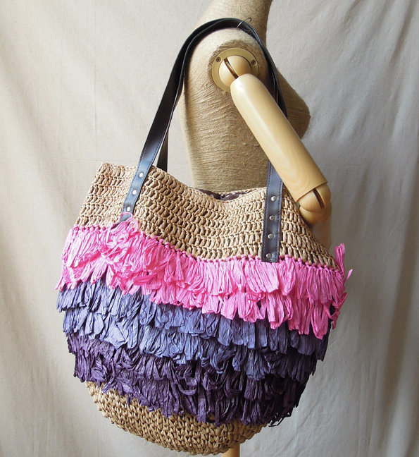 European Stylish Rattan Straw Bag Hand Shoulder Bag