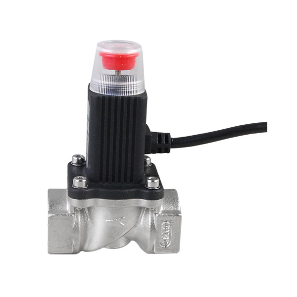 Plated Brass Gas Solenoid Valve Gas Emergency Shut off Valve