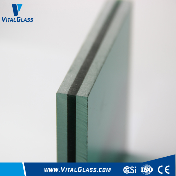 Dark Green Laminated Glass for Building Glass with CE & ISO9001