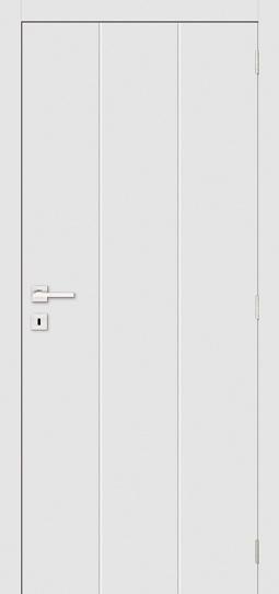 Simple Style White Primed Flush Panel Room Door Wood Door