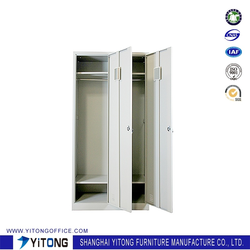 Yitong 2-Door Metal Storage Cabinet / Office Use Steel Locker