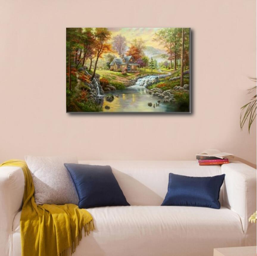 100% Handmade Canvas Oil Painting-Classical Landscape