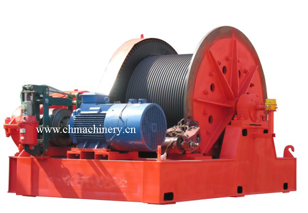 Double Brake Winch with Callipers Brakes, Belt Brakes, Manual Brakes