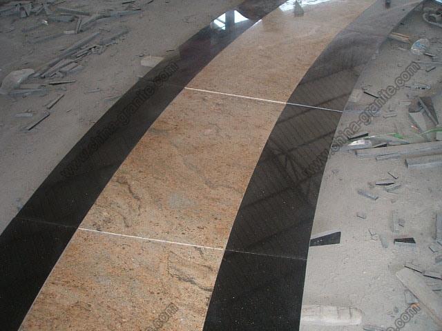Black Absolute, Blue Pearl Polished Granite for Slab or Tile (Interock)