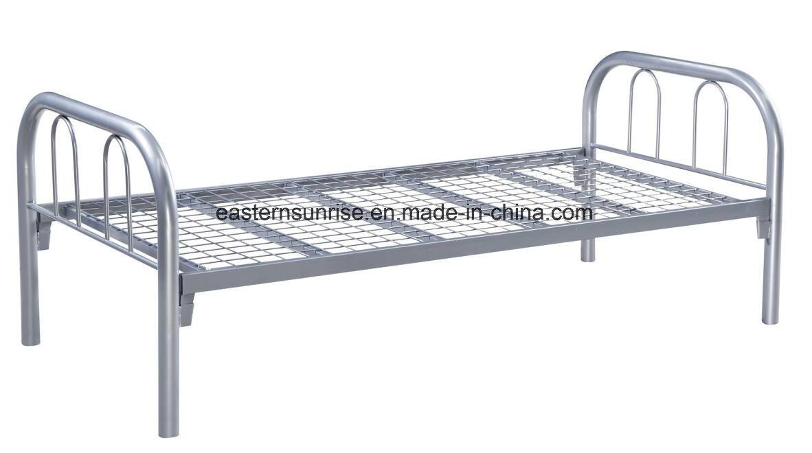 White Powder Coated Metal/Steel/Iron Single Bed