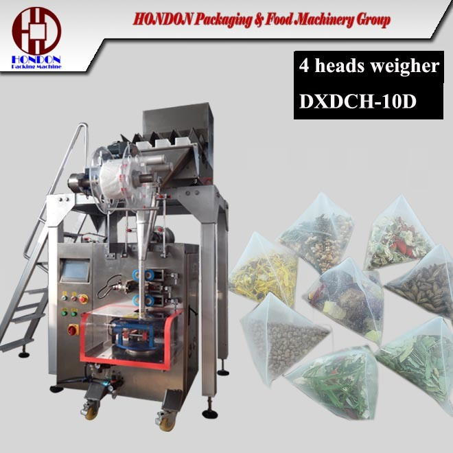 Triangle Tea Bag Packing Machine with Electric Weigh-Er as The Feeding Way (10D)
