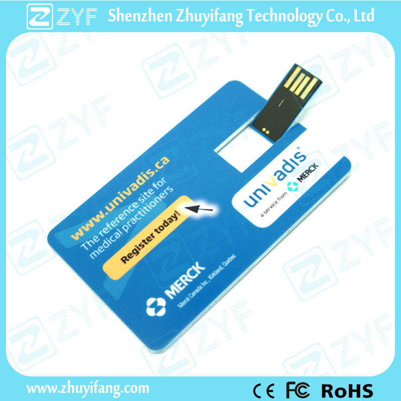 Custom Printing Promotional Gift Credit Card USB Flash Drive (ZYF1232)