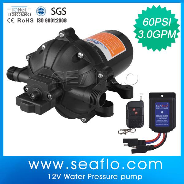 DC Mini Water Pump Seaflo 12V 3.0gpm 60psi Auto High Pressure Diaphragm Pump