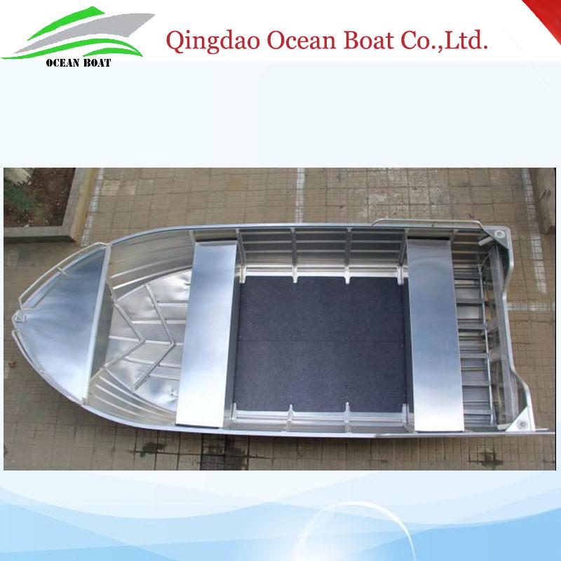 4.5m 15FT Tenvi Basic Aluminum Boat Small Fisherman Motor Boat with CE