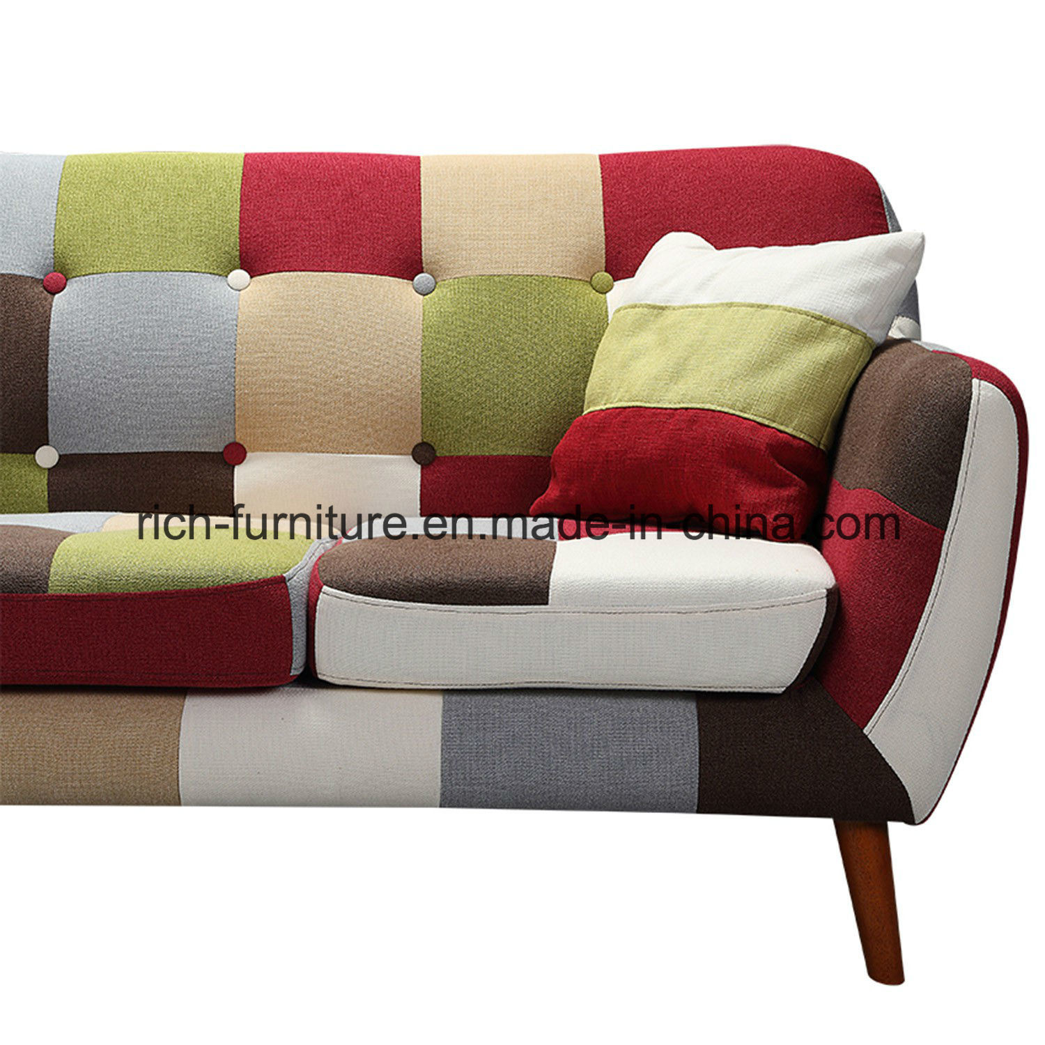 High Quality Italian Design Living Room Hotel Lobby Patchwork Modern Fabric Sofa