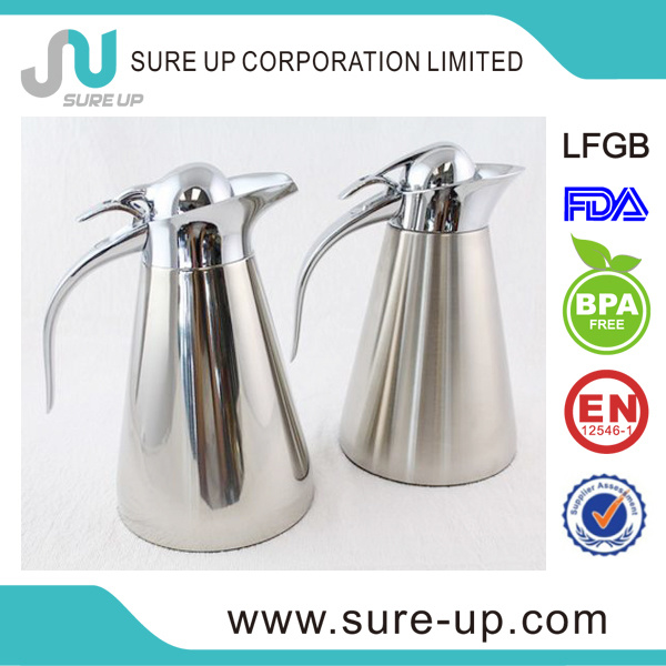 Hotel Stainless Steel Zinc-Alloy Handle Hot Water Coffee Jug