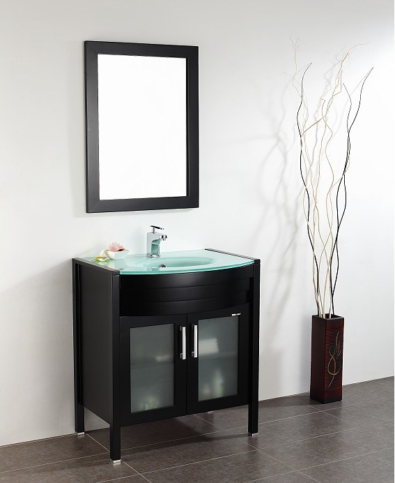 Glass Sink Bathroom Vanity : Glass Sink Bathroom Vanity (KL513) - China Solid Wood Bathroom Vanity ...