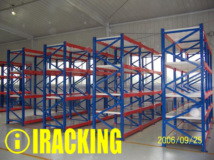 Heavy Duty Long Span Metal Shelf for Industrial Warehouse Storage Solutions (IRB)