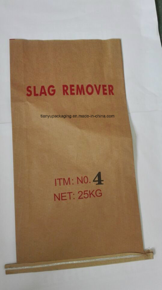 Brown Sewn Open Mouth Kraft Paper Bags with PE Film for Coconuts