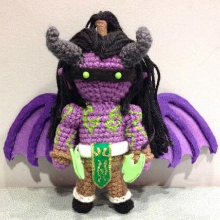 Wow Warcraft Plush Stuffed Hand Made Knit Doll Toy