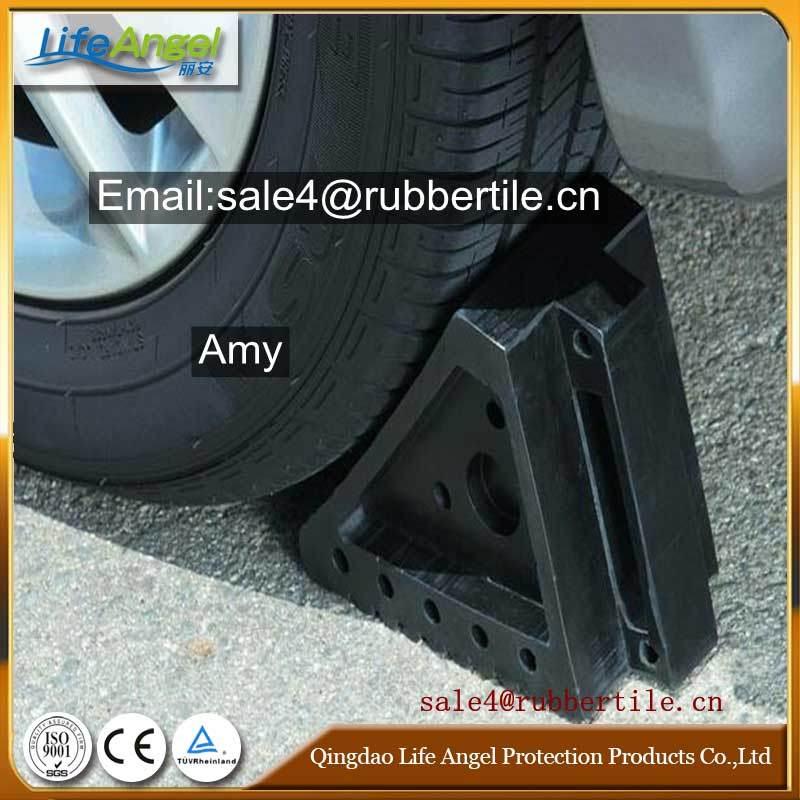Industrial Rubber Wheel Chock Block Holder, Rubber Cushion