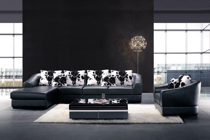 China Home Living Room Furniture Leather Sofa A13 China Lerther Sofa